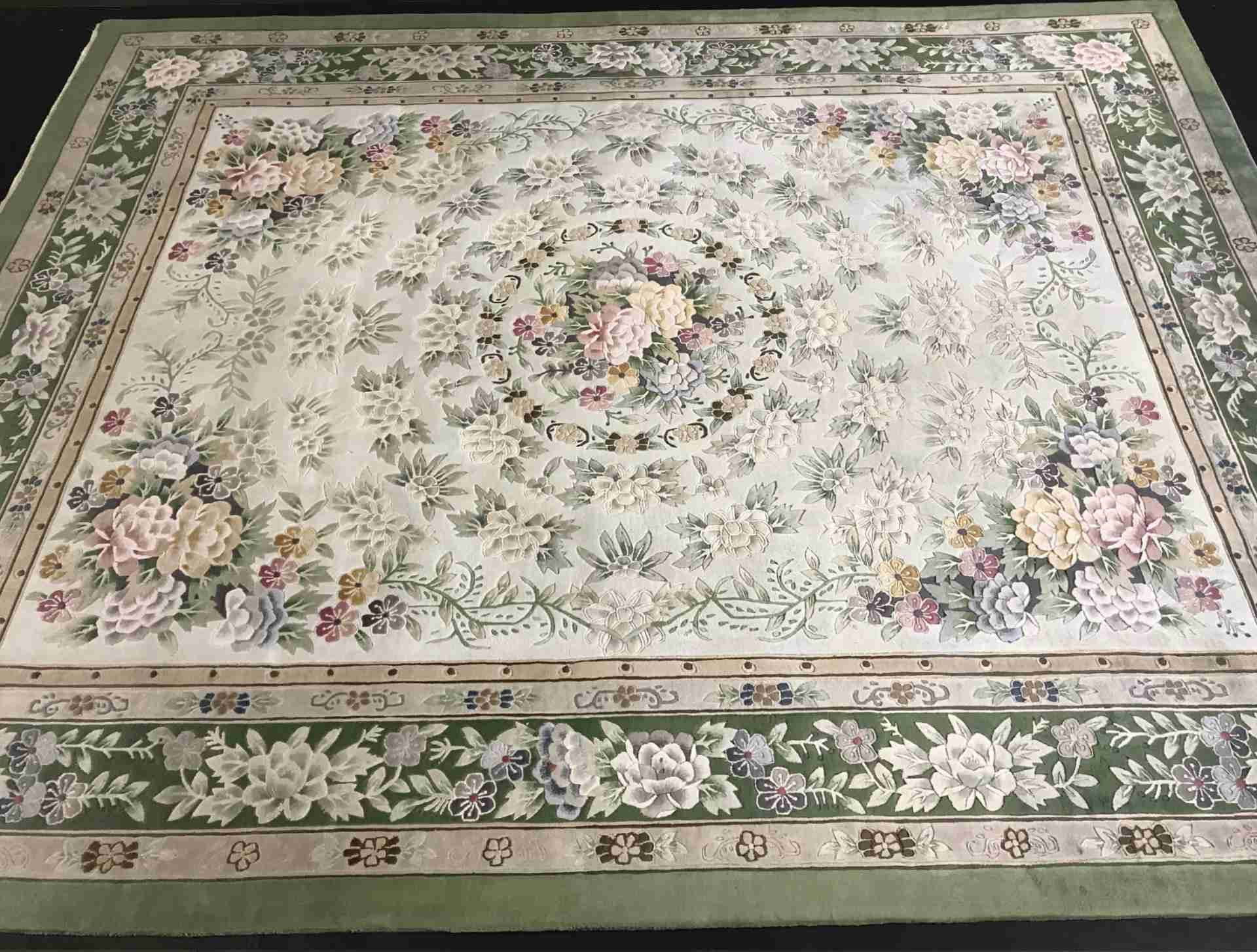 Chinese Silk Hand Knotted After